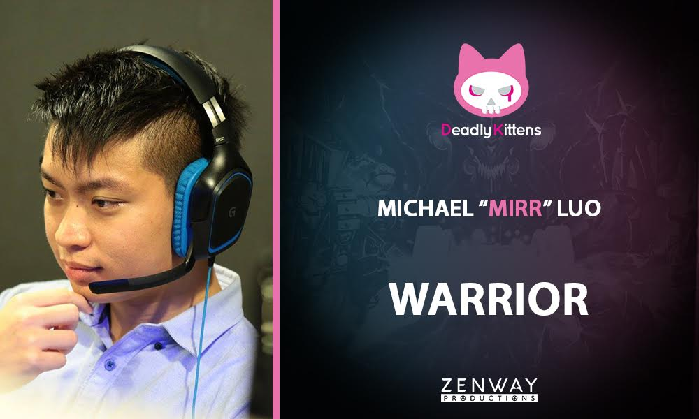 "Picture of Michael ""Mirr"" Luo, warrior and leader of Deadly Kittens."